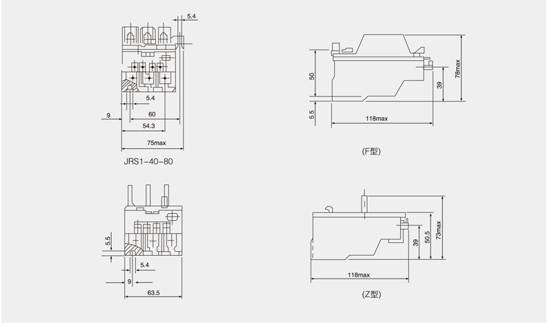 jrs1-40-63 thermal relay
