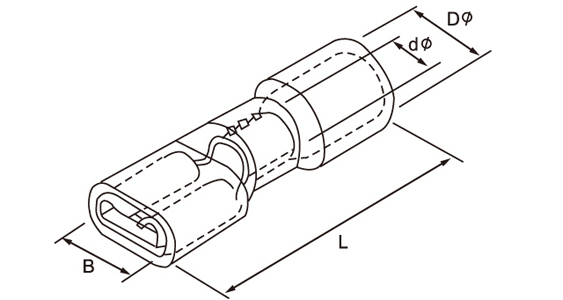 Vinyl-Insulated male disconnector vendor_female disconnector drawing